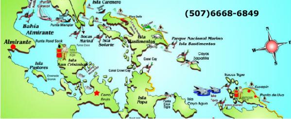 Fahrgebiet Bocas del Toro